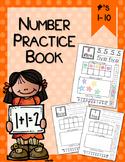 Number Practice Book #1-10