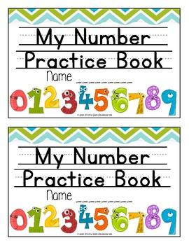 Number Practice Booklets 1-20 (pdf)