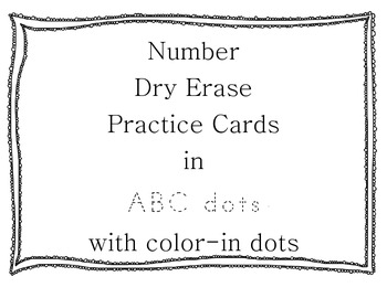Number Practice Cards