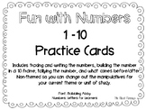 Number Practice Cards 1-10 (non-thematic)