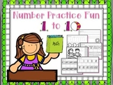 Number Practice Fun 1-10