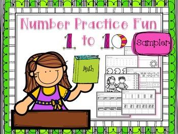 Number Practice Fun 1-10 SAMPLER