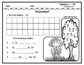 Number Practice Grids (Read, Trace, Write) 1-120