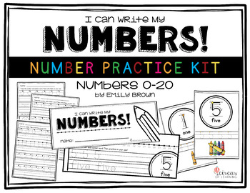 Number Practice Kit • Numbers 0-20
