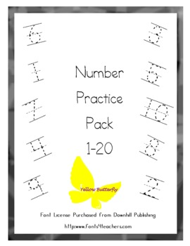 Number Practice Pack (1-20)