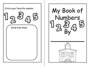 Number Practice Pack for Kindergarten (1-5)
