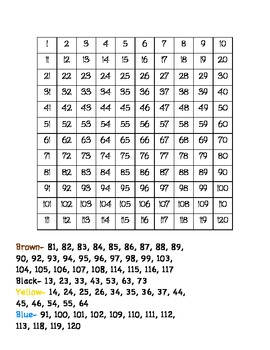 Number Practice Packet