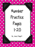Number Practice Pages {Print & Go}