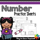 Number Practice Pages [No-Prep]