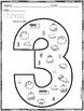 Number Practice Pages for Numbers 1-20: Set 2-Number Search
