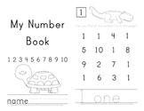 Number Practice Printable Book
