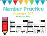 Number Practice Printables (1-20)