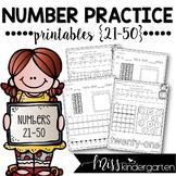 Number Practice Printables {21-50}