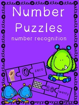 Number Practice Puzzles 0-20