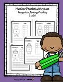 Number Practice: Recognition, Tracing, Counting (1 to 20)