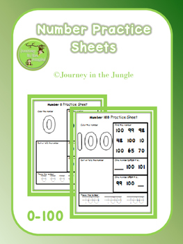 Number Practice Sheets 0-100