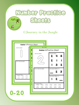 Number Practice Sheets 0-20