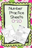 Number Practice Sheets (0-20)