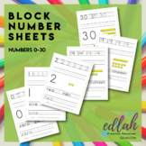 Number Practice Sheets (0-30)