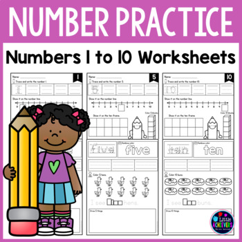 Numbers 1-10 - Number Worksheets