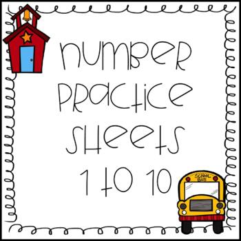 Number Pre-K and Kindergarten Sheets