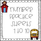 Number Pre-K and Kindergarten Sheets