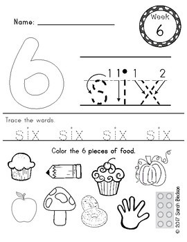 Number Practice Sheets