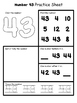 Number Practice Sheets 41-60
