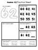 Number Practice Sheets 61-80