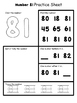 Number Practice Sheets 81-100