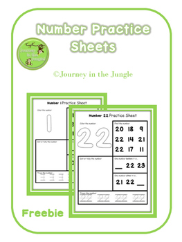 Number Practice Sheets - Freebie