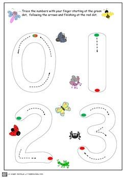 Number Practice Sheets Preschool and Kindergarten