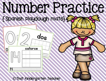 Number Practice {Spanish Playdough Mats}
