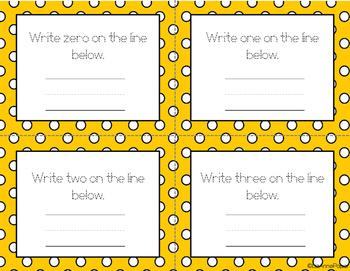 Number Practice Task Cards