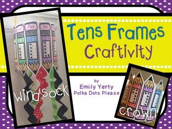 Number Practice Tens Frame Craftivity