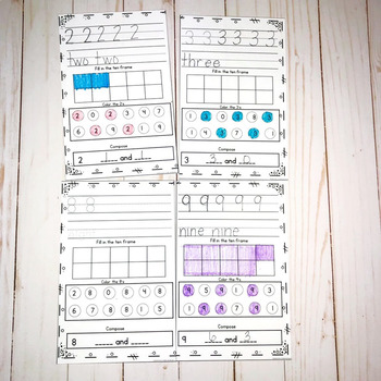 Number Practice- Tracing and Identifying Numbers 0-20