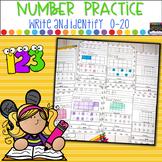 Number Printing Practice 0-20