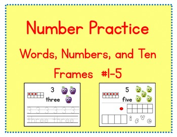 Number Practice: Words, Numbers, and Ten Frames #1-5 (Promethean)
