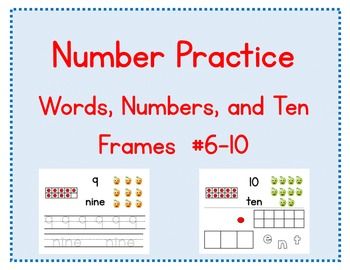 Number Practice: Words, Numbers, and Ten Frames #6-10 (Promethean)