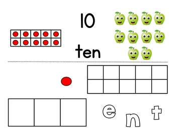 Number Practice: Words, Numbers, and Ten Frames BUNDLE (Promethean)