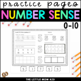 Number Practice Worksheets 0 - 10