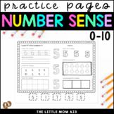 Number Practice Worksheets 0 - 10