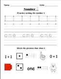 Number Practice Worksheets {1-10}
