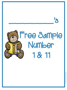 Number Practice Worksheets (1 & 11)