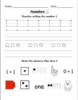 Number Practice Worksheets {1-20}