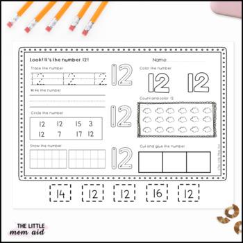 Number Practice Worksheets 11-20