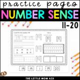 Number Practice Worksheets 11-20 Teen Numbers
