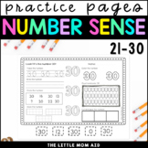 Number Practice Worksheets 21-30