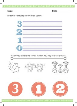 Number Practice and Number word recognition
