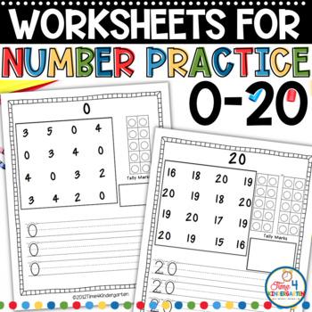 Number Practice for Kindergarten